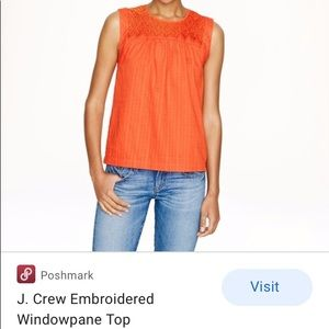 J cree embroidered top